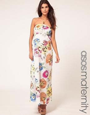 Vestido largo flores premama